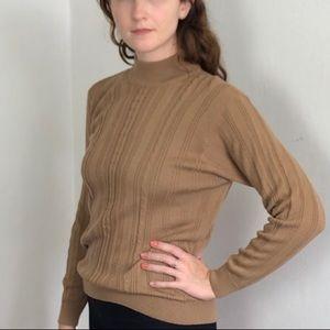 Vintage Brown Wool/Acrylic Turtleneck